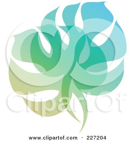 Royalty-Free (RF) Clipart Illustration of a Gradient Leaf Overlay Logo Icon - 4 by elena