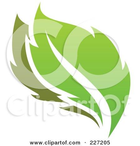 Royalty-Free (RF) Clipart Illustration of a Green Leaf Logo Icon - 11 by elena