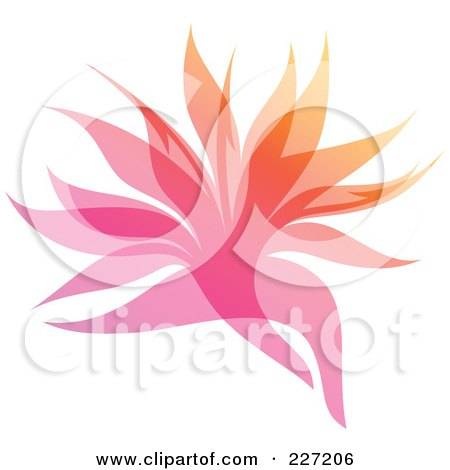 Royalty-Free (RF) Clipart Illustration of a Gradient Leaf Overlay Logo Icon - 3 by elena