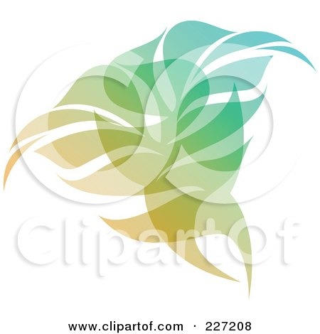 Royalty-Free (RF) Clipart Illustration of a Gradient Leaf Overlay Logo Icon - 2 by elena