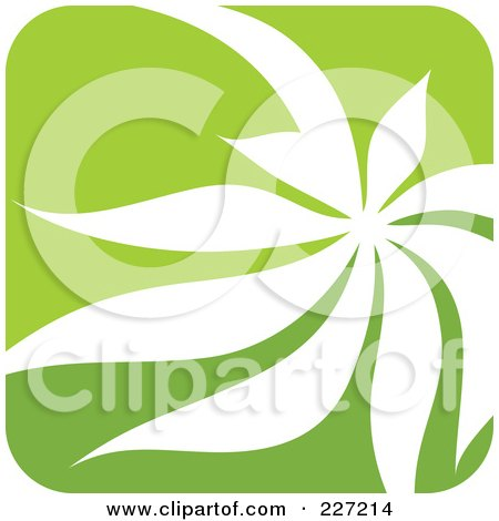 Royalty-Free (RF) Clipart Illustration of a Green And White Nature Leaf Logo Icon - 11 by elena