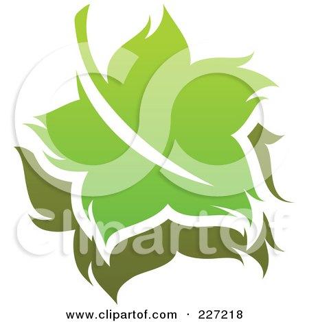 Royalty-Free (RF) Clipart Illustration of a Green Leaf Logo Icon - 16 by elena