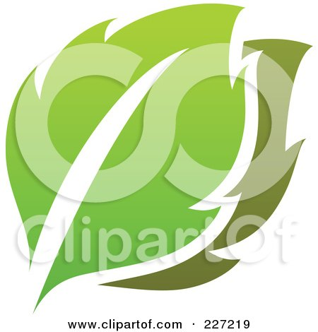 Royalty-Free (RF) Clipart Illustration of a Green Leaf Logo Icon - 1 by elena