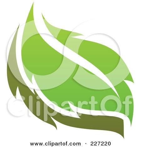 Royalty-Free (RF) Clipart Illustration of a Green Leaf Logo Icon - 12 by elena