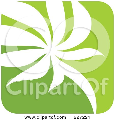 Royalty-Free (RF) Clipart Illustration of a Green And White Nature Leaf Logo Icon - 6 by elena