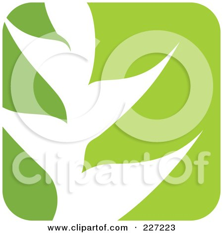 Royalty-Free (RF) Clipart Illustration of a Green And White Nature Leaf Logo Icon - 8 by elena