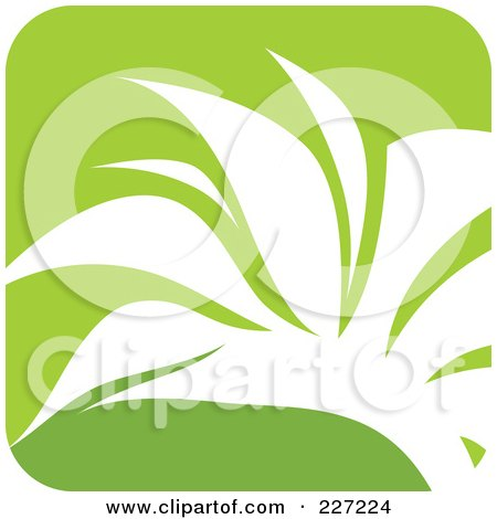 Royalty-Free (RF) Clipart Illustration of a Green And White Nature Leaf Logo Icon - 1 by elena