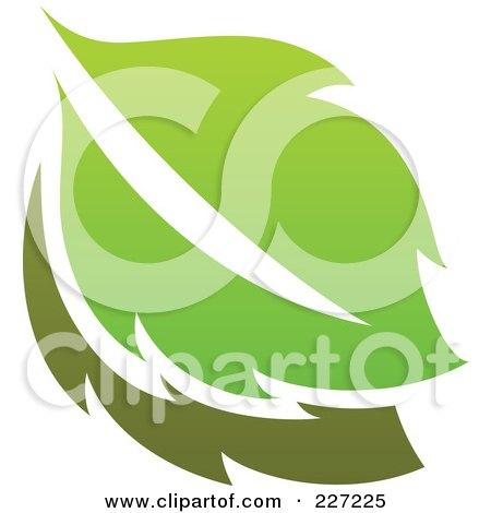Royalty-Free (RF) Clipart Illustration of a Green Leaf Logo Icon - 4 by elena