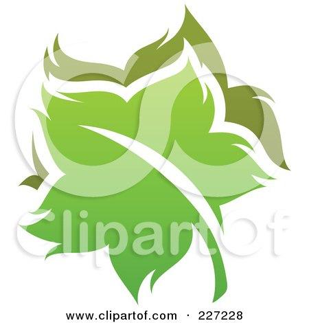 Royalty-Free (RF) Clipart Illustration of a Green Leaf Logo Icon - 15 by elena