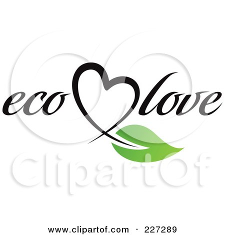 Royalty-Free (RF) Clipart Illustration of an Eco Love Logo by elena