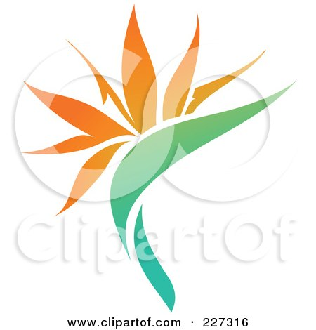 Royalty-Free (RF) Clipart Illustration of an Orange Flower Logo Icon - 11 by elena