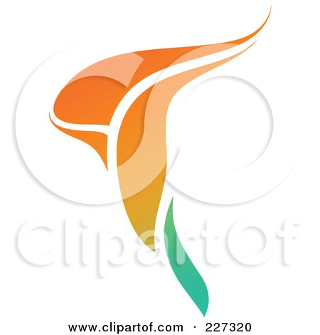 Royalty-Free (RF) Clipart Illustration of an Orange Flower Logo Icon - 1 by elena