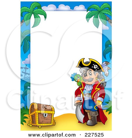Royalty Free RF Pirate Border Clipart Illustrations Vector