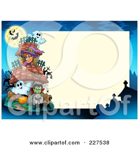Royalty-Free (RF) Clipart of Halloween Borders, Illustrations ...