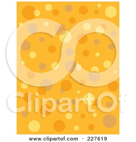 Royalty-Free (RF) Clipart Illustration of a Seamless Background Pattern Of Retro Bubbles On Orange by Andy Nortnik