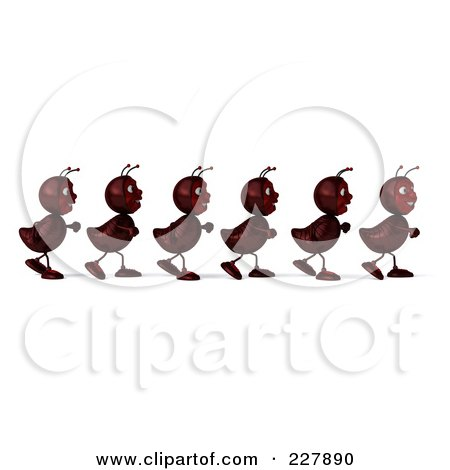 Ants In A Line Clip Art Preview Clipart
