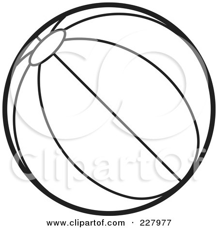 Beach Coloring Pages on Of A Coloring Page Outline Of A Beach Ball With Stripes By Lal Perera