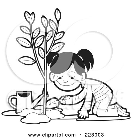 Royalty Free Rf Planting A Tree Clipart Illustrations