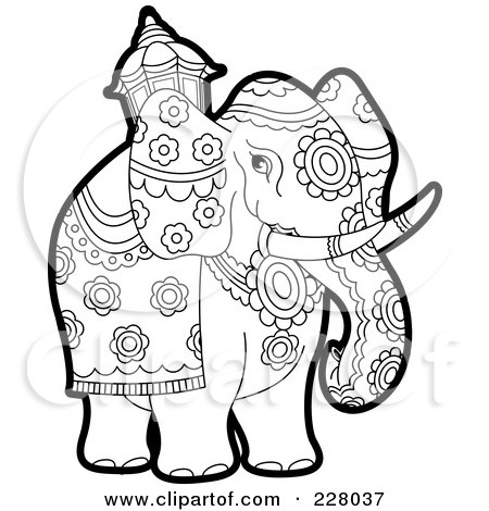 Filename 228037 Coloring Page Outline Of A Pageant Elephant