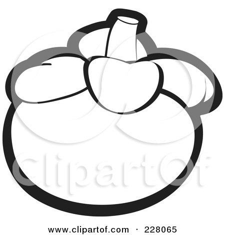 royalty free rf clipart illustration of a coloring page outline of a mangosteen by lal perera