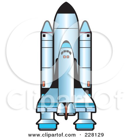 Royalty-Free (RF) Clipart Illustration of a Shuttle by Lal Perera