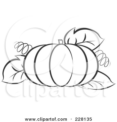 RoyaltyFree RF Clipart Illustration of a Pumpkin With