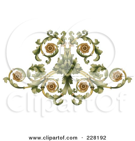 Royalty Free RF Clipart Illustration Of An Ornate Curling Flourish