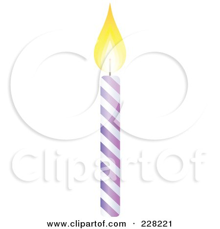 Purple Birthday Candle Clipart Royalty-Free (RF) Clip...