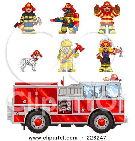 Royalty-Free (RF) Clipart Illustration of a Friendly Fire Woman In ...