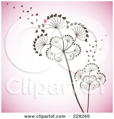 Heart Seeds Blowing Off Of Dandelion Seedheads Posters, Art Prints