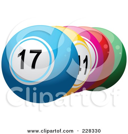 Royalty-Free (RF) Clipart Illustration of a Shiny 3d Lottery Balls by elaineitalia