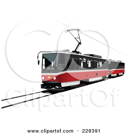 Royalty-Free (RF) Clipart Illustration of a Public Tram - 5 by leonid
