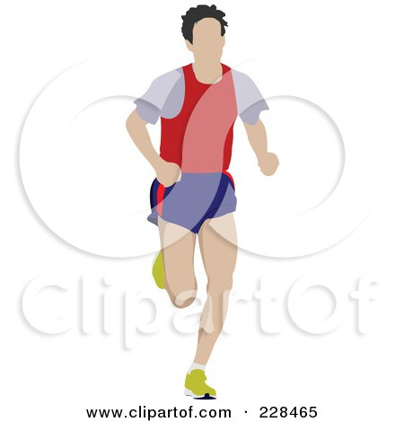 Royalty-Free (RF) Clipart Illustration of a Male Jogger - 3 by leonid