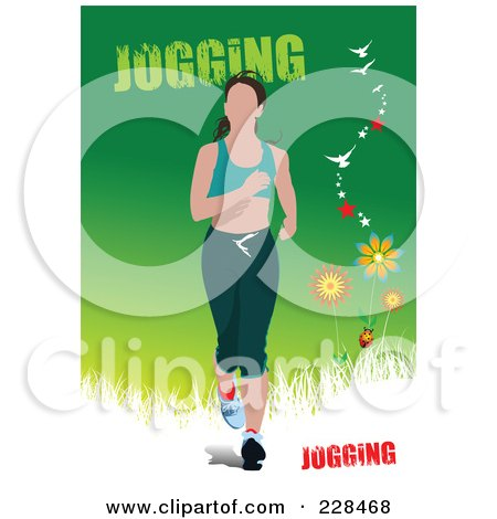 Royalty-Free (RF) Clipart Illustration of a Jogger Woman - 1 by leonid