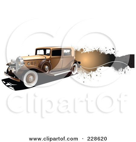 Royalty-Free (RF) Clipart Illustration of a Vintage Car Grunge Banner - 1 by leonid