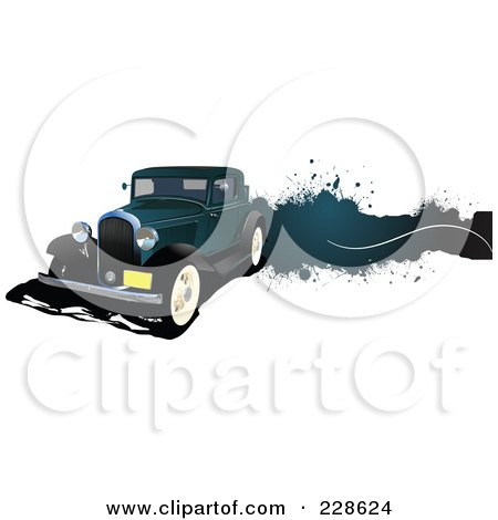 Royalty-Free (RF) Clipart Illustration of a Vintage Car Grunge Banner - 5 by leonid