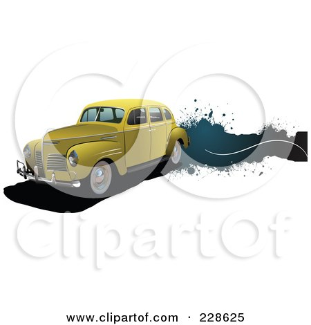 Royalty-Free (RF) Clipart Illustration of a Vintage Car Grunge Banner - 4 by leonid