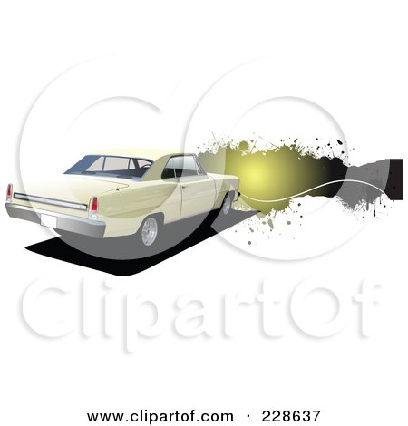 Royalty-Free (RF) Clipart Illustration of a Vintage Car Grunge Banner - 2 by leonid