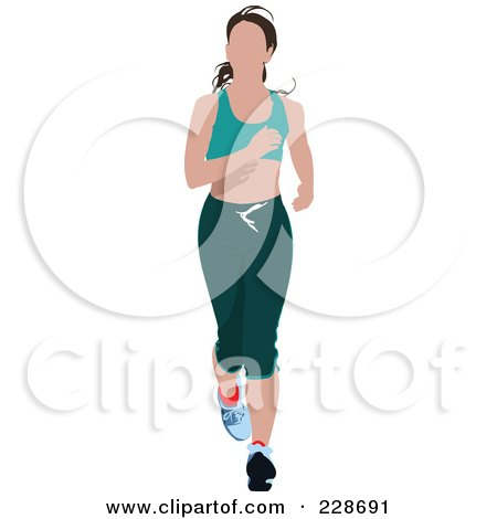 Royalty-Free (RF) Clipart Illustration of a Jogger Woman - 6 by leonid
