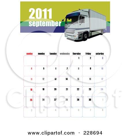 september 2013 calendar. September 2011 Big Rig