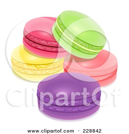 Royalty-Free (RF) Clipart Illustration of Colorful Macarons by Oligo