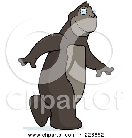 Royalty-Free (RF) Clipart Illustration of an Ape Walking by Cory Thoman