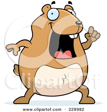 Royalty-Free (RF) Clipart Illustration of a Hamster With An Idea by Cory Thoman