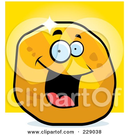 Royalty-Free (RF) Clipart Illustration of a Happy Golden Nugget by Cory Thoman
