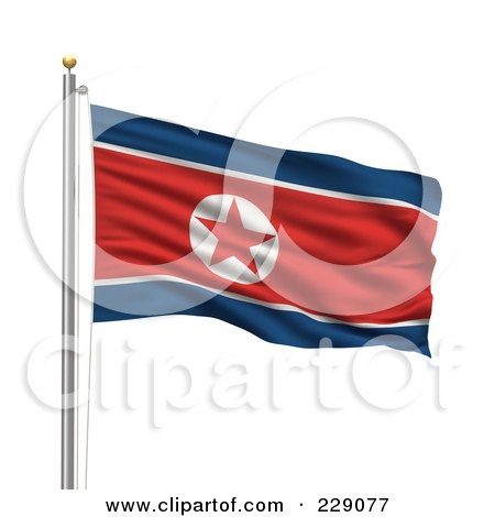 the north korean flag. dresses hot north korea flag