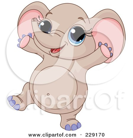 Royalty Free Rf Dancing Elephant Clipart Illustrations