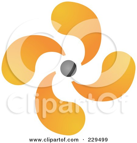 Royalty-Free (RF) Clipart Illustration of an Abstract Black And Orange Logo Icon - 9 by Qiun