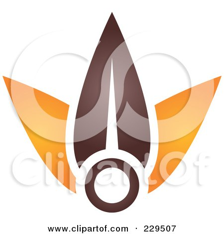 Royalty-Free (RF) Clipart Illustration of an Abstract Brown And Orange Logo Icon - 10 by Qiun