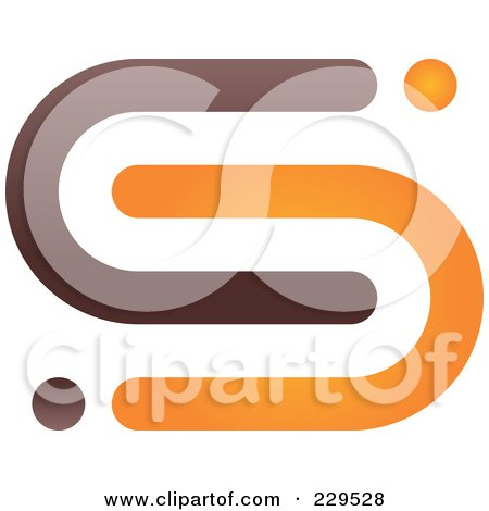 Royalty-Free (RF) Clipart Illustration of an Abstract Brown And Orange Logo Icon - 3 by Qiun