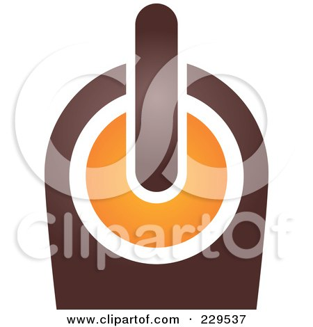 Royalty-Free (RF) Clipart Illustration of an Abstract Brown And Orange Logo Icon - 9 by Qiun
